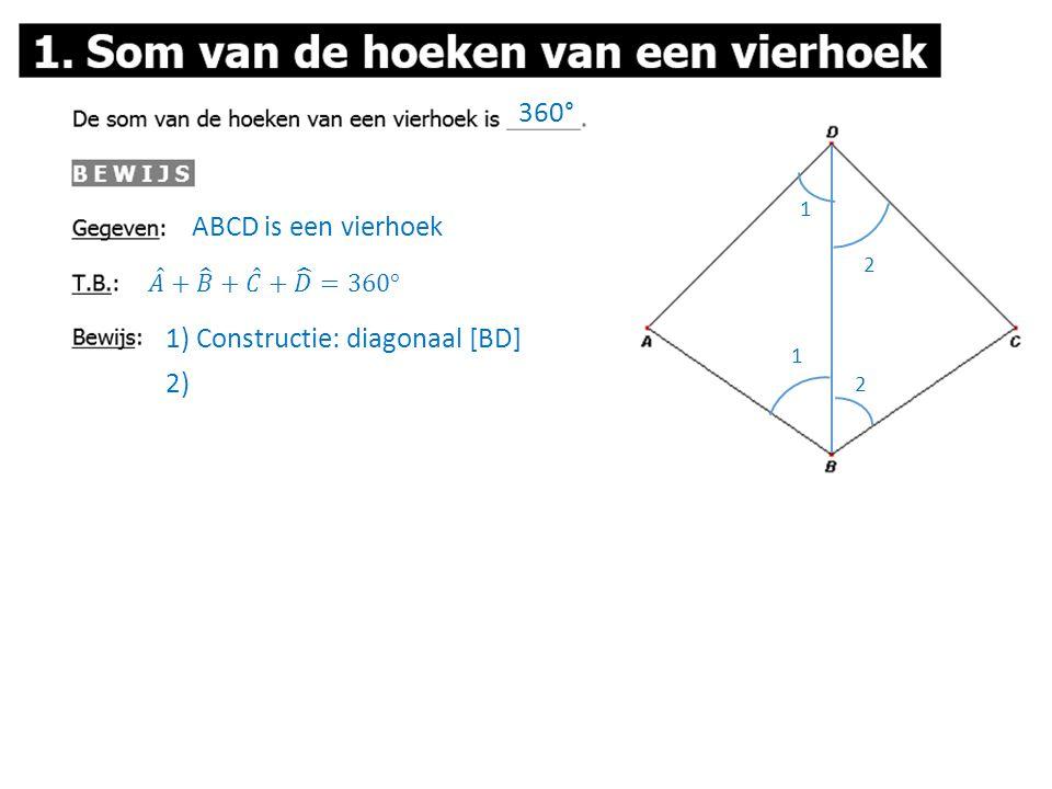 1) Constructie: diagonaal [BD]